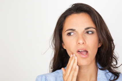 Woman in need of gum disease treatment in Stanwood, WA.